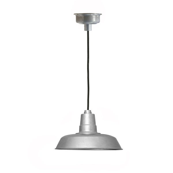 "22"" Oldage LED Pendant Light in Galvanized Silver"