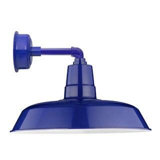 """12"""" Oldage LED Sconce Light with Cosmopolitan Arm in Cobalt Blue"""