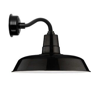 """12"""" Oldage LED Sconce Light with Chic Arm in Black"""