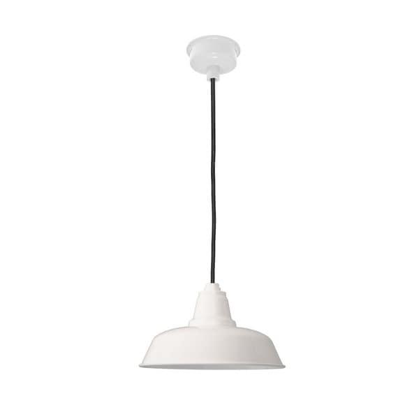 """14"""" Goodyear LED Pendant Light in White"""