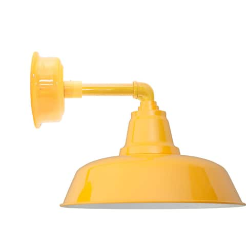 """12"""" Goodyear LED Sconce Light with Cosmopolitan Arm in Yellow"""