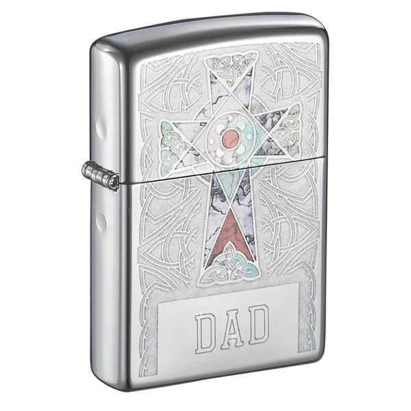 Zippo Christian Design Engraved Dad Lighter