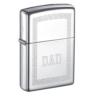 Zippo Greek Design Engraved Dad Lighter