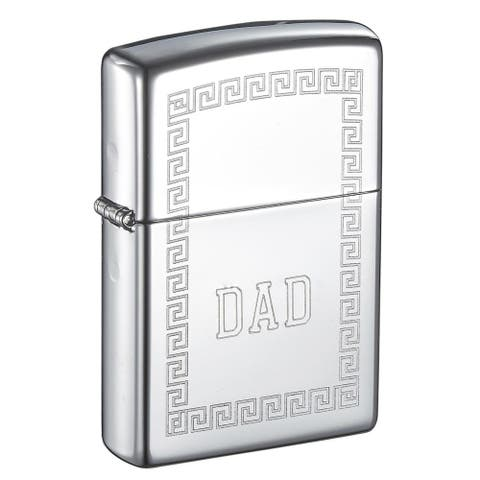 Zippo Greek Design Engraved Dad Lighter