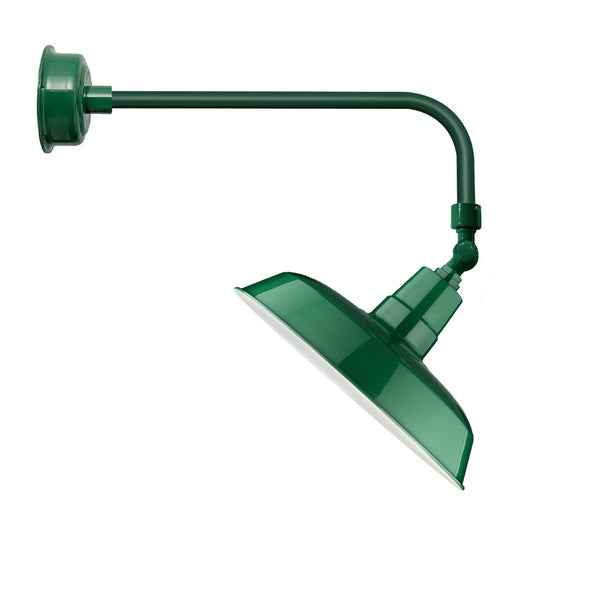 "12"" Oldage LED Sign Light with Traditional Arm in Vintage Green"