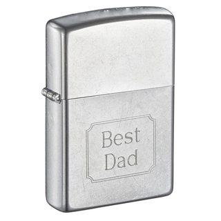 Zippo Best Dad Engraved Street Chrome Lighter