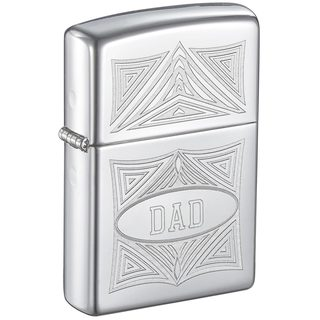 Zippo Dad Engraved Abstract Design Lighter