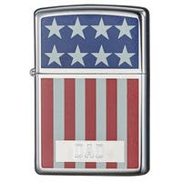 Zippo Dad Engraved American Flag Design Lighter