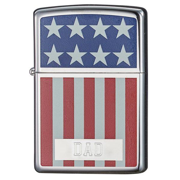 Zippo Dad Engraved American Flag Design Lighter