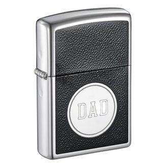 Zippo Dad Engraved Black Enable Design Lighter
