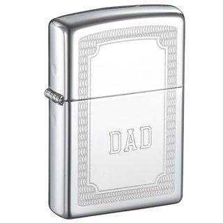 Zippo Dad Engraved Crisscross Design Lighter