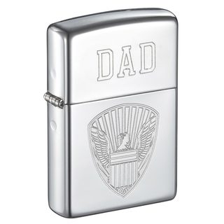 Zippo Dad Engraved Eagle Design Lighter