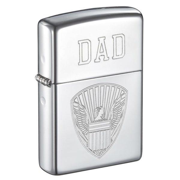 Zippo Dad Engraved Eagle Design Lighter