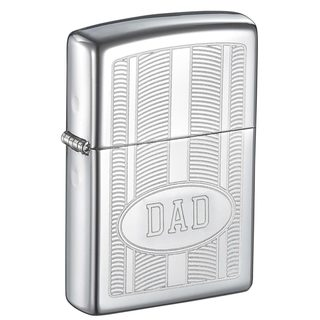 Zippo Dad Engraved Etched Design Lighter