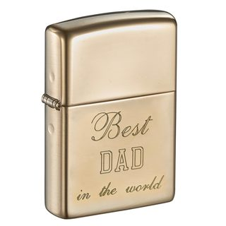 Zippo Dad Engraved High Polish Brass Armor Lighter