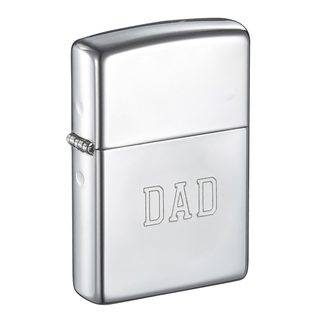 Zippo Dad Engraved High Polish Chrome Finish Lighter
