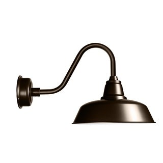 """12"""" Goodyear LED Barn Light with Rustic Arm in Mahogany Bronze"""