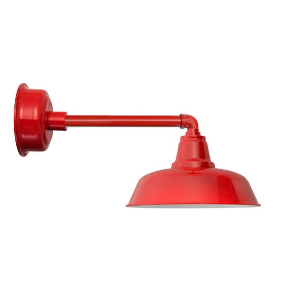 "12"" Goodyear LED Barn Light with Metropolitan Arm in Cherry Red"
