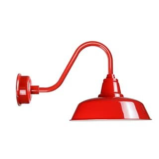 """12"""" Goodyear LED Barn Light with Rustic Arm in Cherry Red"""