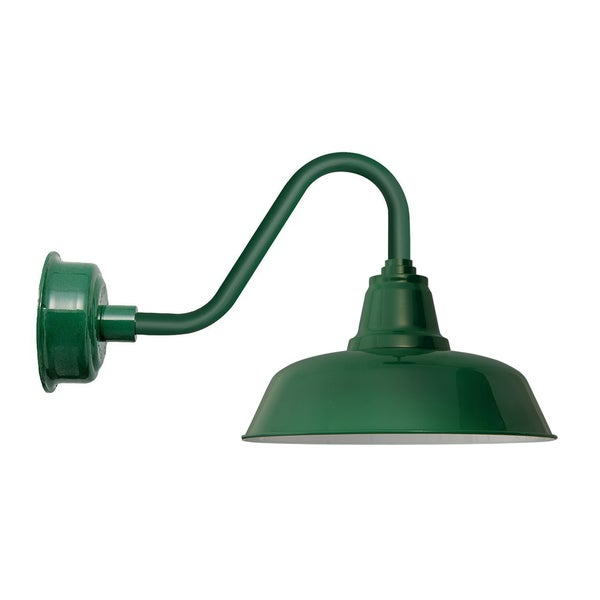 "10"" Goodyear LED Barn Light with Vintage Arm in Vintage Green"