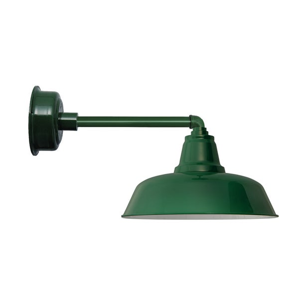 "10"" Goodyear LED Barn Light with Metropolitan Arm in Vintage Green"