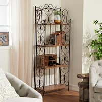 Studio 350 Metal Wood Baker Rack 68 inches high, 27 inches wide