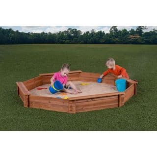 "Creative Cedar Designs Octagon Sandbox with Cover (7' x 6'5"" x 9"")