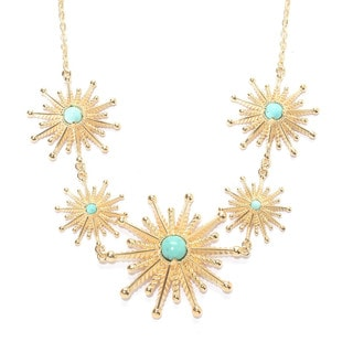 Starburst Gemstone Statement Necklace