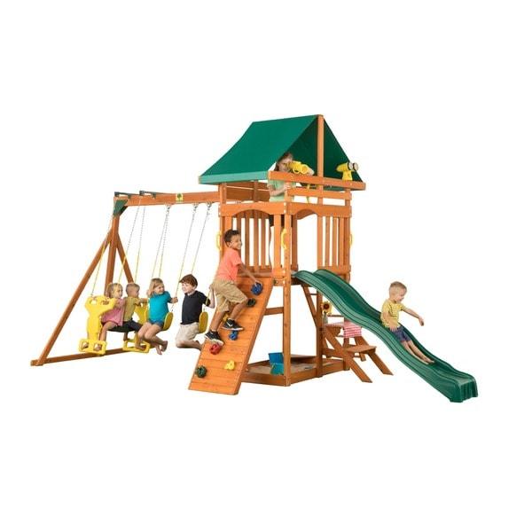 Creative Cedar Designs Sky View Wooden Playset