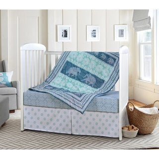 Laural Home Elephant Dreaming 3-piece Baby Bedding Set