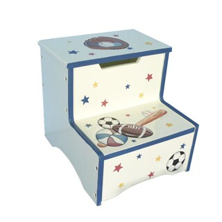 Teamson Sports Room Collection Kids Step Stool with Storage