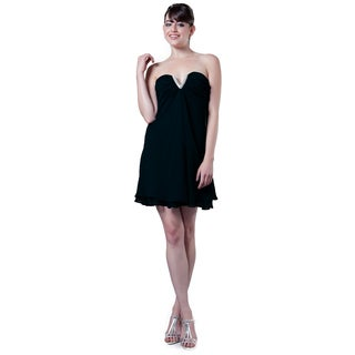 DFI Women's Strapless Short Cocktail Dress