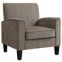 Grey Fabric Upholstered Traditional Accent Chair