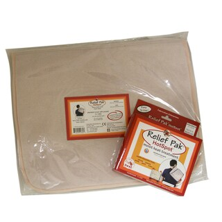 Relief Pak® Moist Heat Pack And Cover Set Standard Size Pack with Foam Filled Pocketed Cover