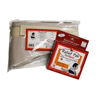 Relief Pak® Moist Heat Pack And Cover Set Neck Contour Pack with Foam Filled Pocketed Cover