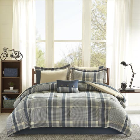 Roger Navy Multi Comforter and Sheet Set by Intelligent Design