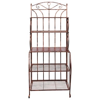Old Dutch Saddlebrook Antique Copper Iron Baker's Rack