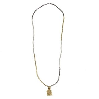 Handmade Chain Tassel 2-in-1 Necklace/Bracelet (India)