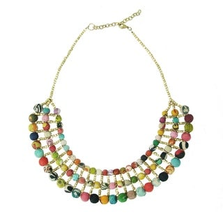 Handmade Kantha Collar Necklace (India)