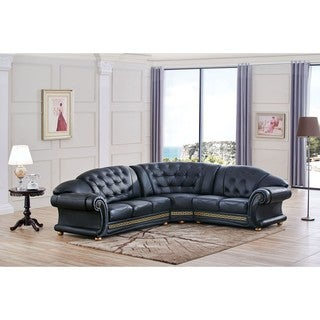 Luca Home Anthony Tufted Right Facing Sectional