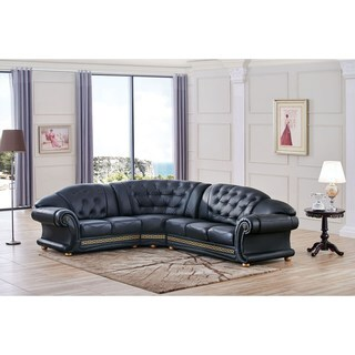 Luca Home Anthony Tufted Left Facing Sectional