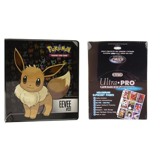"Ultra Pro Pokémon Eevee 2"" 3-Ring Binder Card Album with 100 Ultra Pro Platinum 9-Pocket Sheets"