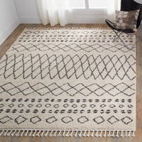 Nourison Moroccan Marrakesh Shag Cream Area Rug - 7'10X10'6