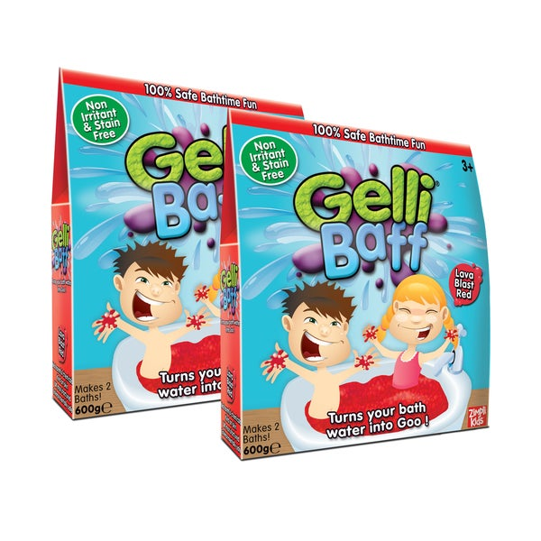 Zimpli Kids Red Gel Bath Gelli Baff - 4-Use, (2) Boxes