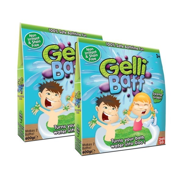 Zimpli Kids Green Gel Bath Gelli Baff - 4-Use, (2) Boxes