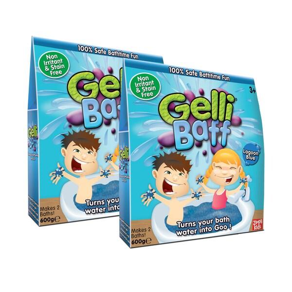 Zimpli Kids Blue Gel Bath Gelli Baff - 4-Use, (2) Boxes
