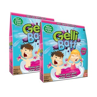Zimpli Kids Pink Gel Bath Gelli Baff - 4-Use, (2) Boxes