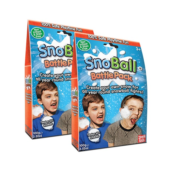 Zimpli Kids Snoball Battle Pack Bundle - 2 Pack, Makes 120 Snowballs Total