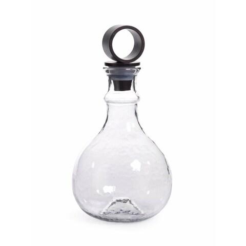 """""""Garan"""" 12.5"""" Tall Hammered Glass Decanter"""