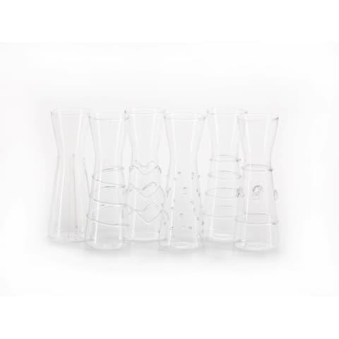 """Zalli"" Assorted Glass Carafe (Set of 6)"